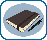 illustration of diary and pen