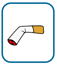 illustration of butted-out cigarette