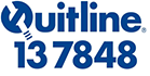 Quitline logo and phone number 137848
