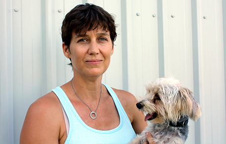 Danette with her dog