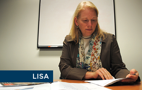 Financial impact case study participant Lisa