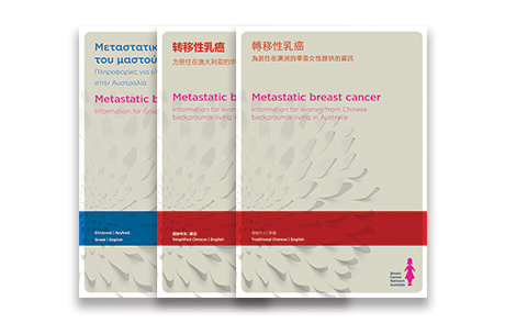 Traditional Chinese, Simplified Chinese and Freek metastatic breast cancer booklets