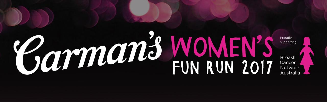 Carmans Womens Fun Run banner